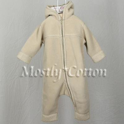 NwT HANNA ANDERSSON Khaki Tan HOODED FLEECE Snowsuit BUNTING Infant Baby 70 5-12m New With Tags