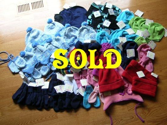 Wholesale Lot HANNA ANDERSSON Cotton Fleece MITTENS GLOVES HATS 58 pieces