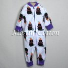 Hanna Andersson Organic Cotton BLACK CATS HALLOWEEN Zippers Prints Coverall Sleeper 60 2-6m