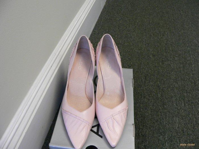 Aldo Pink leather pumps