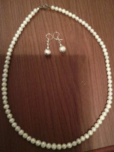 "18"" Baroque Pearl Necklace & Earring Set"