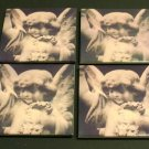 Angel Coaster Set of 4- Polaroid transfer image