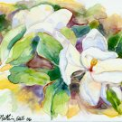 Magnolia- watercolor on Yupo