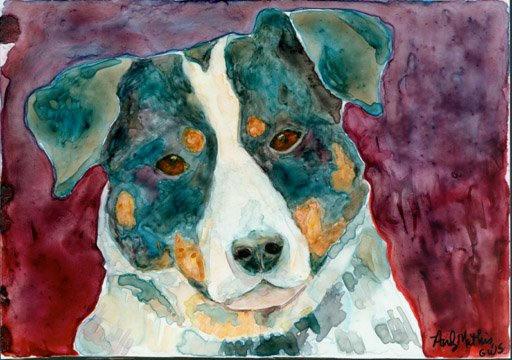 Dog Portrait- Reproduction print 5x7 inches