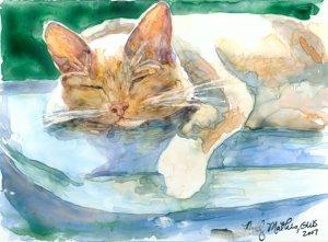 Cat Nap- yupo reproduction print