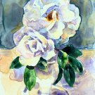White Roses Still Life on Yupo-original painting