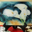 Calla Lilies Glass Cutting Board