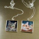 Cat Pendant and Chain- Sterling Silver- LARGE