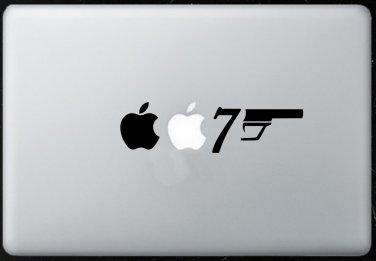 007 James Bond MacBook Air-Pro 11 13 15 17 Vinyl Stickers, Skin, Decal