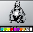 Jesus MacBook Air-Pro 11 13 15 17 Vinyl Stickers, Skin, Decal