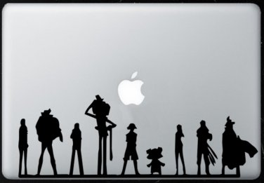 One Piece Team  MacBook Air-Pro 11 13 15 17 Vinyl Stickers, Skin, Decal