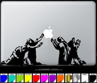 Pray MacBook Air-Pro 11 13 15 17 Vinyl Stickers, Skin, Decal