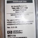Agilent (HP) 85711A CATV Measurement Card HP 8590B