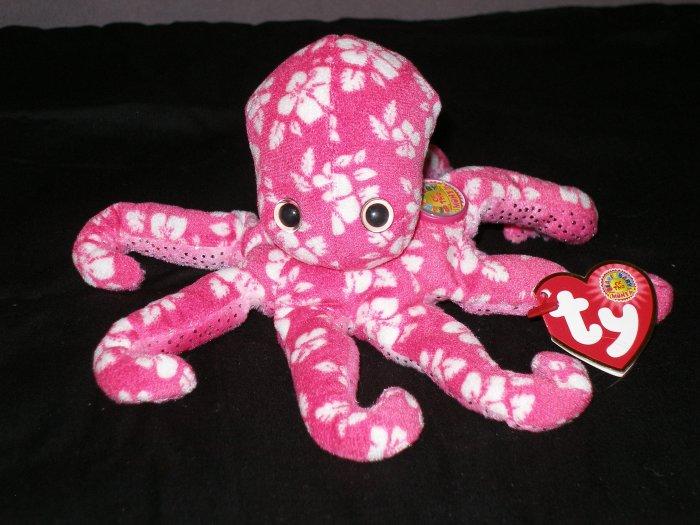 Ty Beanie Babies BBOM Surfin Octopus June 2007 HTF!!