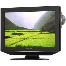 "Sharp 19"" LCD TV with built in DVD player"