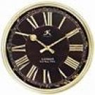London Black & Gold Resin Wall Clock