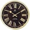 London Black & Gold Resin Wall Clock