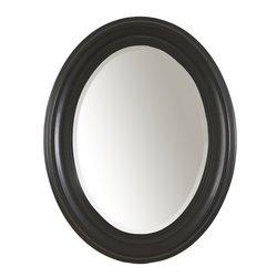 Oval Mirror- Antique Black