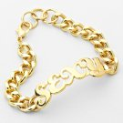 Gold SEXY Chain Link Word Bracelet Urban Statement Sexy Love Hip Hop Jewelry