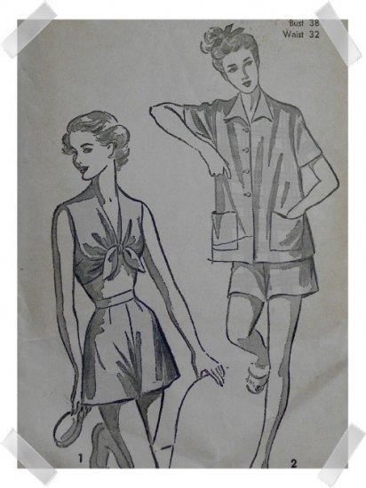 Advance #5243 Sz 20 Woman's Bra/Jacket Shorty PJs Pattern