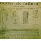 Antique Butterick #1272 Night Drawers / Hood c. 1900