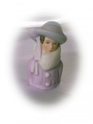 Avon Fashion Silhouettes Thimble 1923 Lady
