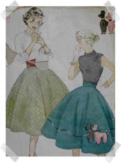 Authentic Vintage POODLE SKIRT Pattern
