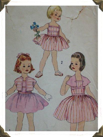 Simplicity #2519 Childs Sz 5 Sundress Pattern c.1950s