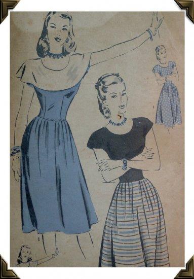 Hollywood #1811 Vintage Misses / Ladies Sz 12 Dress Pattern