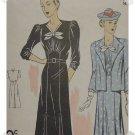 DuBarry #2225 Woman's Dress/Jacket Pattern c. 1935