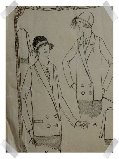McCalls #3516 Misses / Ladies sz14 Suit Coat Pattern c.1921