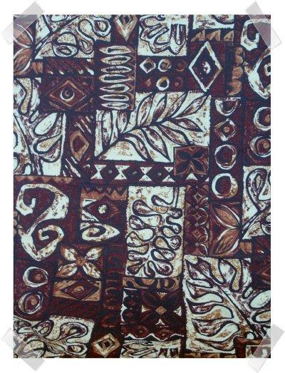 TIKI BROWN Barkcloth by Hoffman International