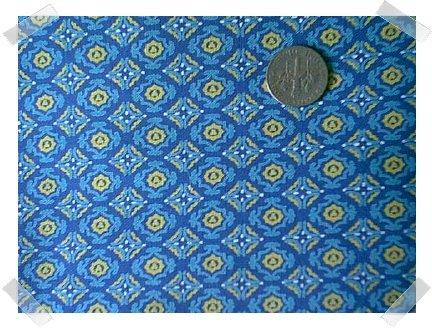 GORGEOUS 1950s 100% COTTON Blue Diamonds 4yds