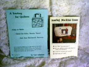 PATTERNS- QuiltersTote and Sew Machine Cover