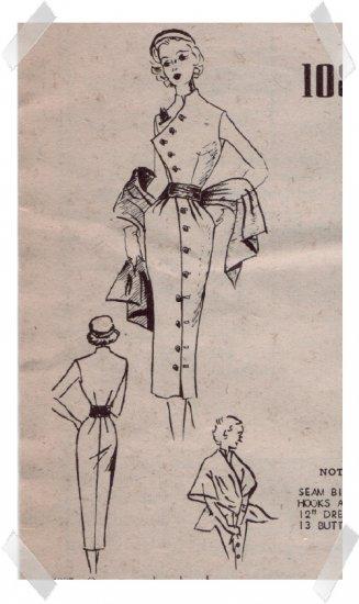 Modes Royale #1087 Dress & Stole Pattern