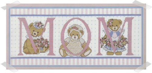 Candamar Designs ~ MOM Teddy Bears Cross stit