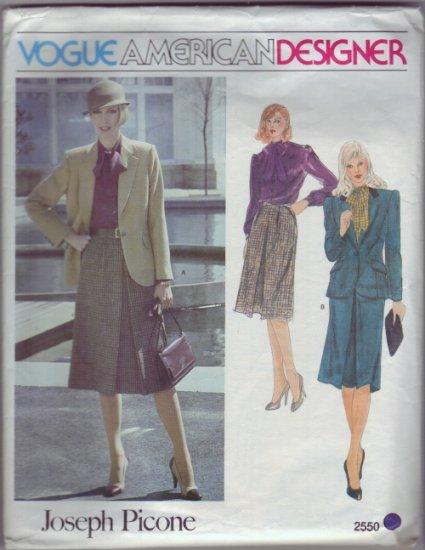 Vogue #2550 Joseph Picone Suit Pattern sz 12