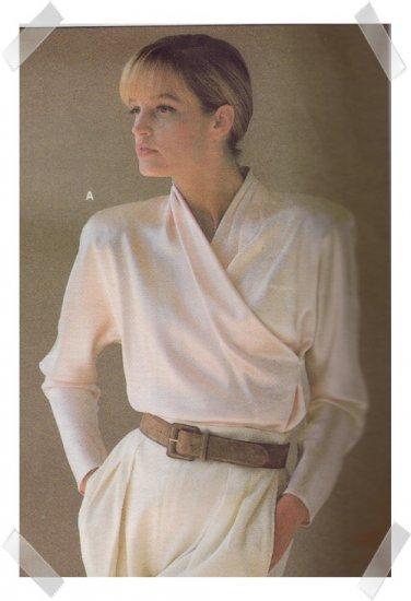Vogue #1792 Calvin Klein Blouse Pattern Sz 8