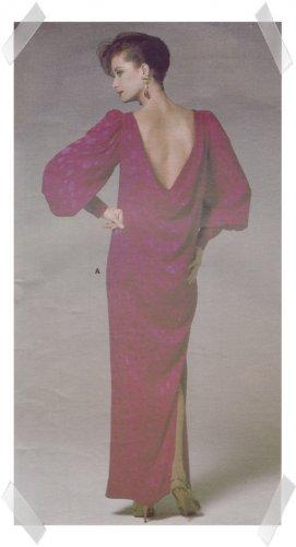 Vogue #1364 Oscar de la Renta Evening Dress Pattern sz 10