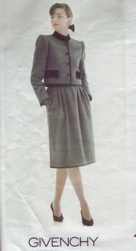 Vogue #1203 Givenchy Tuxedo Suit Pattern Sz 12