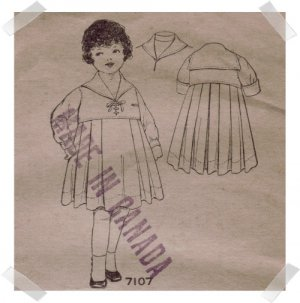 Pictorial Review #7107 Sz 2 Childs Dress c.1910