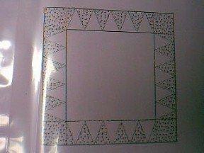Pyramid Border Foundation Sheets Quilt Pattern