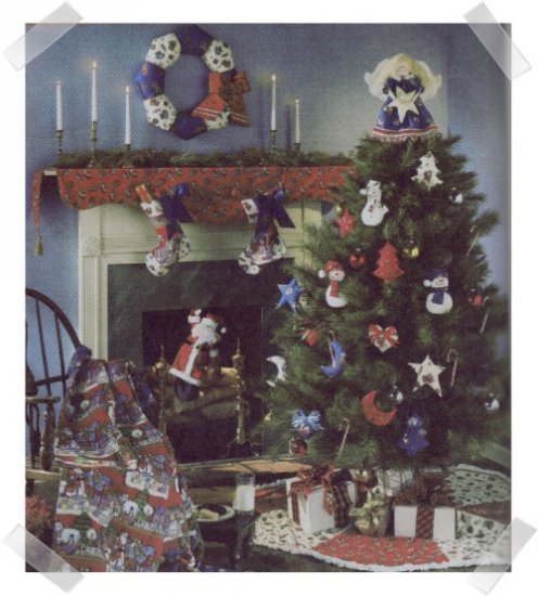 Simplicity #9327 Patchwork Christmas Ornaments
