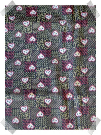 Vintage 100% Cotton for Quilting ~ Brown & Tan Hearts