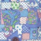 Vintage Flannel ~ Pink & Blue Girls in Granny Dresses
