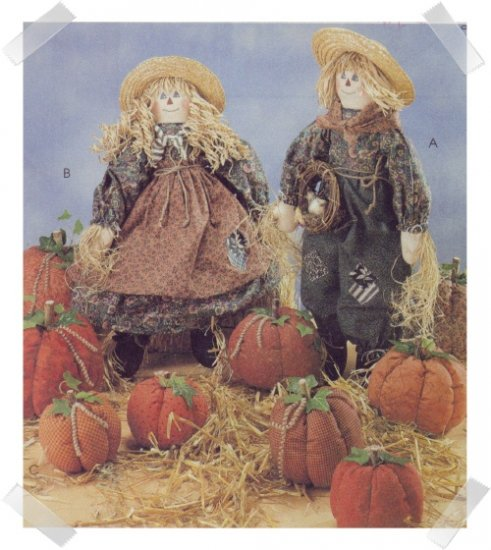 McCalls #7808 Halloween & Fall Mr & Mrs Scarecrow