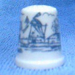 Delft Style Ceramic Thimble