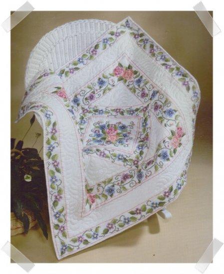 Bucilla Lap Quilt Wall Hanging Cross Stitch Kit