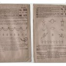 Butterick ~ 2 Delineator Embroidery Transfers