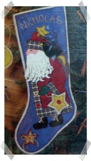 Sunset Santa Star FOLK Stocking Kit